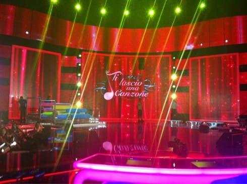 Ti Lascio una Canzone 2012 - il palco