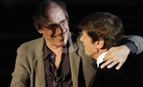 Adriano Celentano con Gianni Morandi