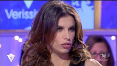 Elisabetta Canalis a Verissimo