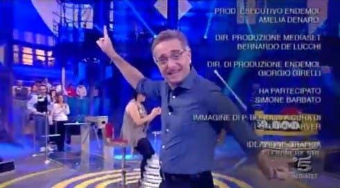 Paolo Bonolis nella puntata di Avanti un Altro dell'8 gennaio 2013