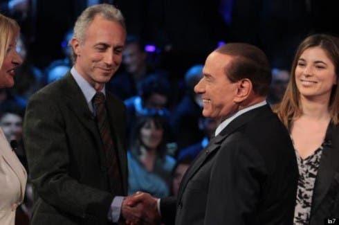 Silvio Berlusconi - Marco Travaglio - Servizio Pubblico 10 gennaio 2013