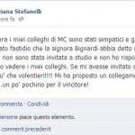 Dalla pagina facebook di Tiziana Stefanelli