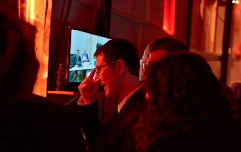 Fabio Fazio nel backstage di Sanremo 2013