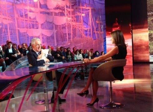 Mario Monti con Daria Bignardi alle Invasioni Barbariche