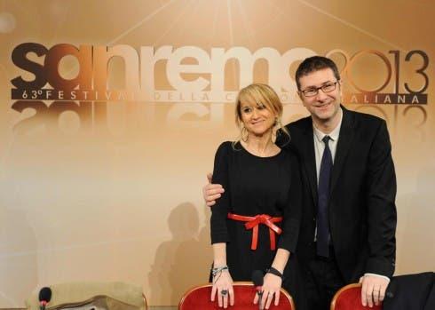 Sanremo 2013 - Fabio Fazio e Luciana Littizzetto