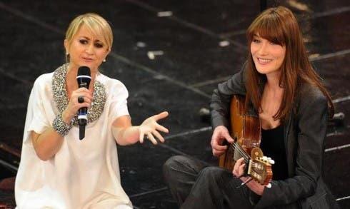 Sanremo 2013 - Luciana Littizzetto e Carla Bruni