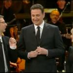 Sandro Giacobbo con Luciana Littizzetto e Fabio Fazio