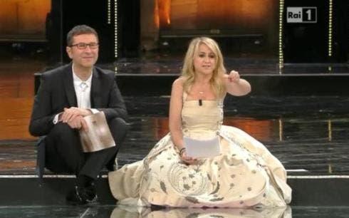Sanremo 2013 - quarta serata - Fabio Fazio e Luciana Littizzetto