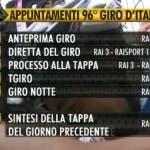 Giro d'Italia 2013 - La programmazione Rai