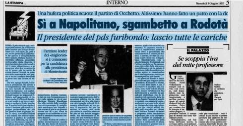 Napolitano - Rodotà 1992
