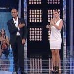 Emma con Carlo Conti a I Migliori Anni