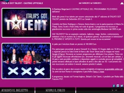 Italia's Got Talent 5 - Casting - Magicland