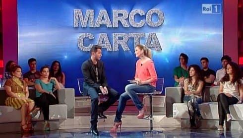 Marco Carta con Lorella Cuccarini a Domenica In