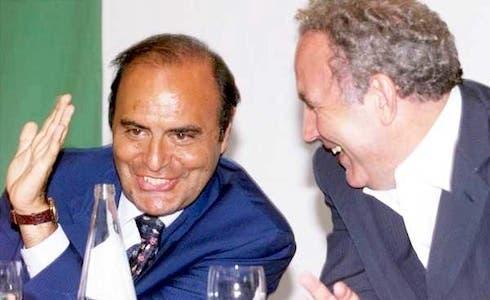 Bruno Vespa ospite di Michele Santoro a Servizio Pubblico