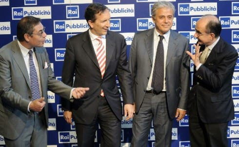 Rai - Andrea Vianello - Luigi Gubitosi - Angelo Teodoli - Giancarlo Leone (US Rai)