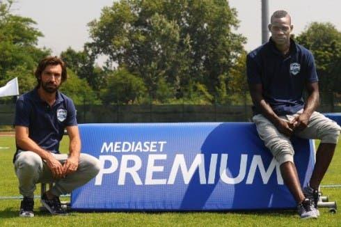 Pirlo e Balotelli testimonial di Mediaset Premium