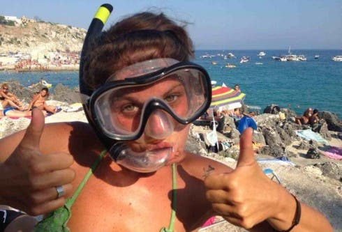 Alessandra Amoroso a mare