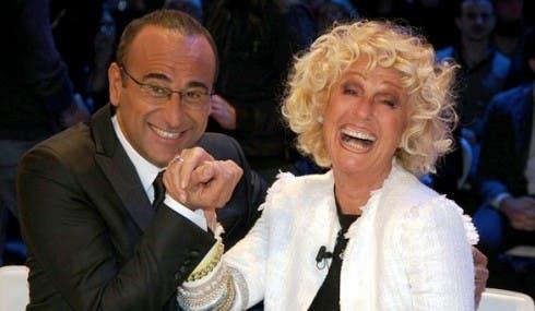 Carlo Conti con Loretta Goggi - Tale e Quale Show