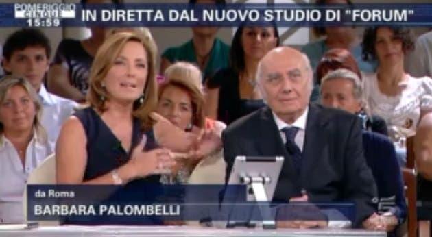 Forum- Barbara Palombelli e Nino Marazzita
