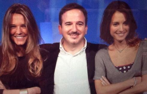 Luca Telese, Francesca Barra, Monica Giandotti (da Twitter)