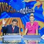 Piero Chiambretti e Michelle Hunziker Striscia la notizia