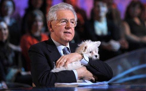 Mario Monti e il cane Empy, Le Invasioni Barbariche