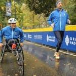 Joe Bastianich e Alex Zanardi alla maratona di NY