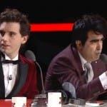 Mika ed Elio durante il quinto live di X Factor 7