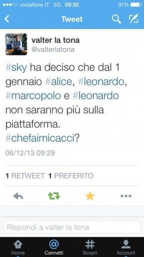 Alice Leonardo e Marcopolo fuori da Sky