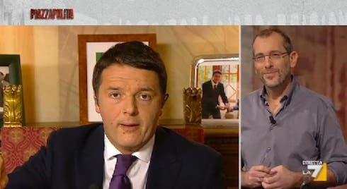 Matteo Renzi a Piazzapulita imita Berlusconi