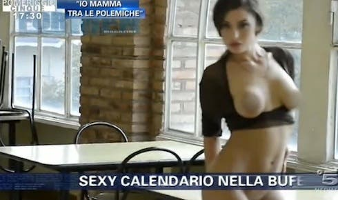 Alena seredova backstage calendario 2005 - 3 part 7
