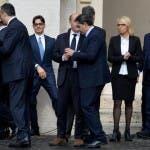 Delegazione Mediaset da Papa Francesco