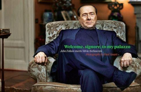 Berlusconi senza trucco, Sunday Time Magazine
