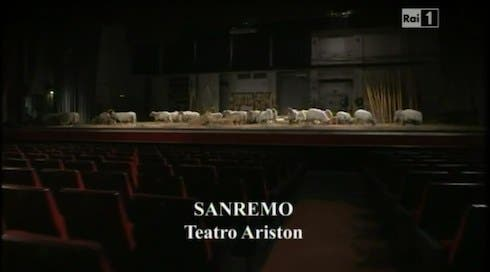 Sanremo - Teatro Ariston - pecore