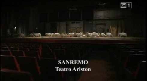 Sanremo - Teatro Ariston - pecore
