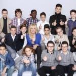 Antonella Clerici con il cast maschile di Ti Lascio Una Canzone 2014