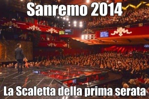 Festival di Sanremo 2014 - la scaletta della prima serata