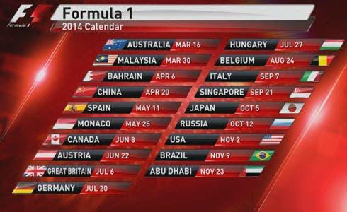 Calendario 2014 Formula 1 | Programmazione Rai | Sky | DavideMaggio.it