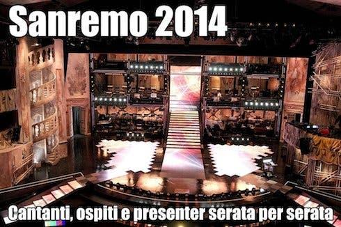 Sanremo 2014 - il programma completo