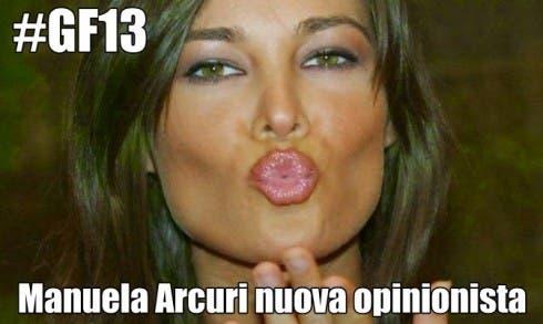 Manuela Arcuri nuova opinionista del Grande Fratello