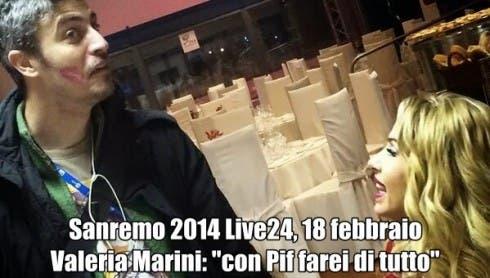 Valeria Marini con Pif