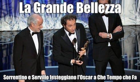 La Grande Bellezza: Sorrentino e Servillo festeggiano l'Oscar a Che Tempo che Fa