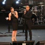 Wind fuori dai Music Awards - Carlo Conti e Vanessa Incontrada