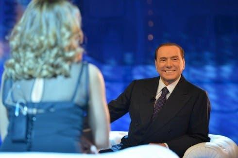 Silvio Berlusconi a Domenica Live (foto da L43)