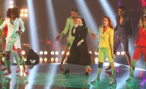 Suor Cristina al primo Live di The Voice 2