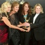 Katherine Kelly Lang con il team di Venice: the series