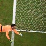 Inghilterra-Italia: Sterling ci prova ma la palla va fuori (foto Eurosport)
