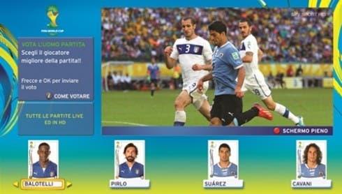 Mondiali 2014 su Sky - Si vota l'uomo partita Sky da casa