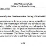 Robin Williams - The White House