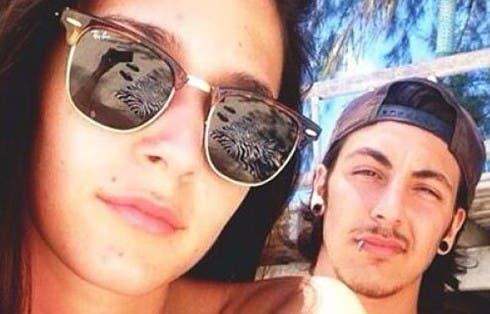 Arianna Costantin con il fidanzato Andrea